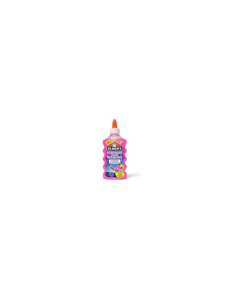 elmers-colla-vinilica-per-slime-glitterata-rosa-177-ml