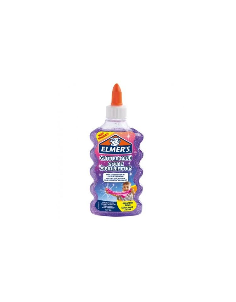 elmers-colla-vinilica-per-slime-glitterata--viola-177-ml