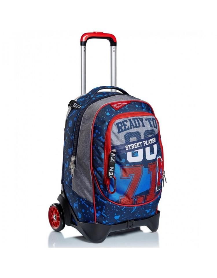 trolley-seven-jack-2d-34-litri-street-player-scuola-blu-3-in-1-fantasia-cartella-zaino