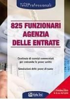 825 FUNZIONARI AGENZIA DELLE ENTRATE.